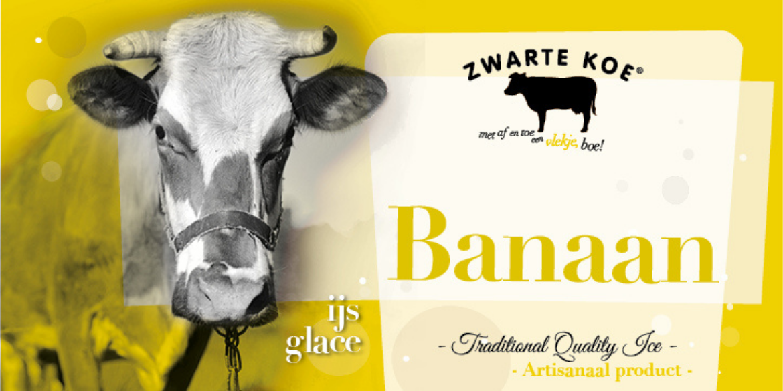Zwarte Koe ijs banaan smaak